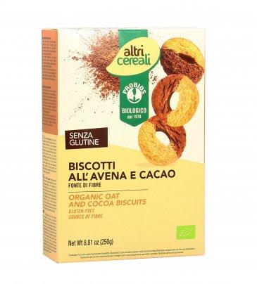 Biscotti all'Avena e Cacao Bio Senza Glutine - Altri Cereali