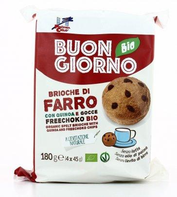 Brioche di Farro con Quinoa e Gocce Freechoco Bio