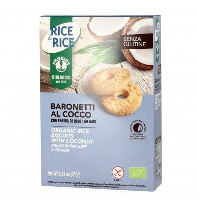 """Biscotti Bio Baronetti al Cocco Senza Glutine """"Rice&Rice"""""""