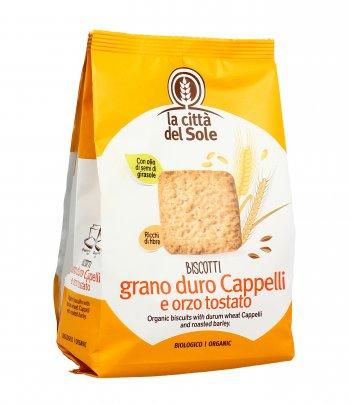 Biscotti Integrali con Grano Duro Cappelli e Orzo Bio