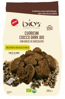 Cuoricini Ciocco Dark con Gocce di Cioccolato