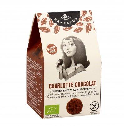 """Biscotti Cioccolato, Nocciole e Fior di Sale """"Charlotte Chocolat"""" Formato Mini (40 g)"""