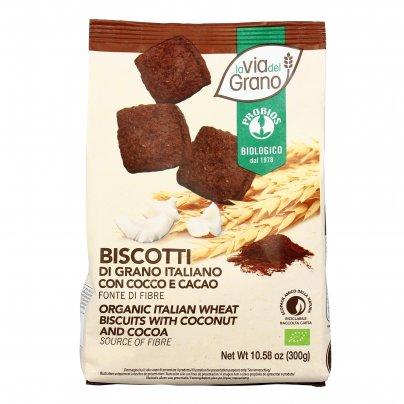 """Biscotti di Grano Italiano con Cocco e Cacao """"La Via del Grano"""""""