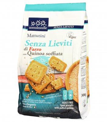 Mattutini Biscotti di Farro con Quinoa Soffiata - Senza Lievito