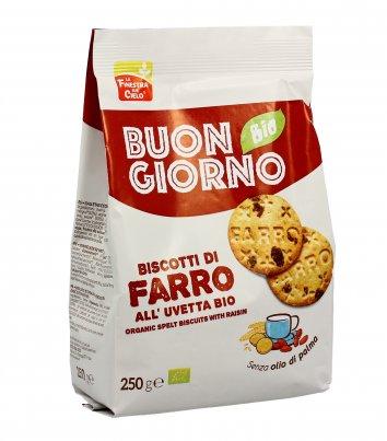 Biscotti Farro con Uvetta - Buongiorno Bio