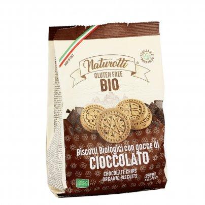 Biscotti Bio Senza Glutine con Gocce di Cioccolato
