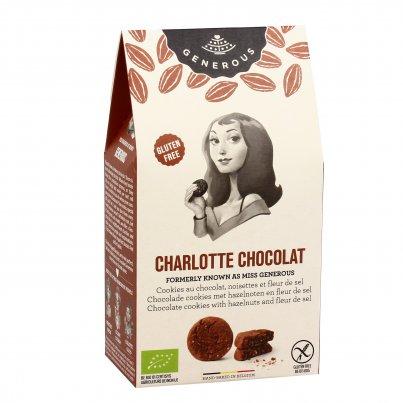 """Biscotti Cioccolato, Nocciole e Fior di Sale """"Charlotte Chocolat"""" 120 g"""