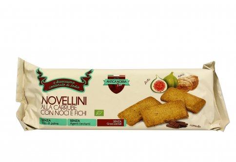 Biscotti Novellini alla Carrube con Noci e Fichi