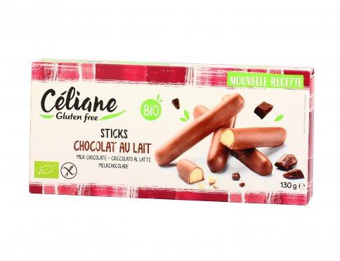 Biscotti Bastoncini Ricoperti di Cioccolato al Latte Senza Glutine