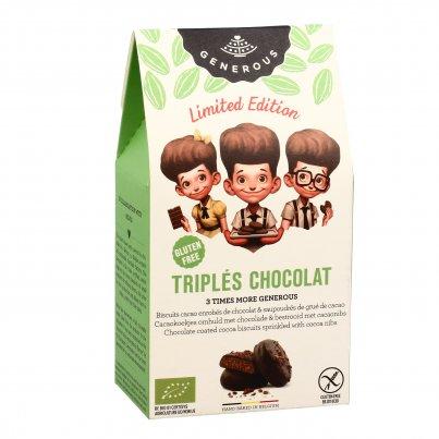 """Biscotti Cacao Ricoperti di Cioccolato e Granella """"Triples Chocolat"""" (Edizione Limitata)"""