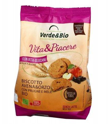 """Biscotti Avena e Orzo con Prugne e Mele Bio """"Vita&Piacere"""""""