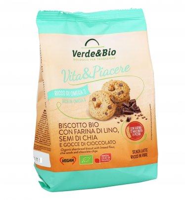 Biscotto con Farina di Lino, Semi di Chia e Cioccolato