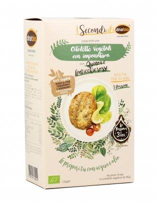 Cotoletta Vegetali con Quinoa e Lenticchie Rosse