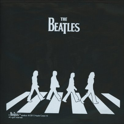 Borsa Pieghevole Nera - Beatles Abbey Road