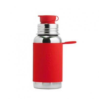Borraccia in Acciaio da 550 ml con Tappo Sport Rossa