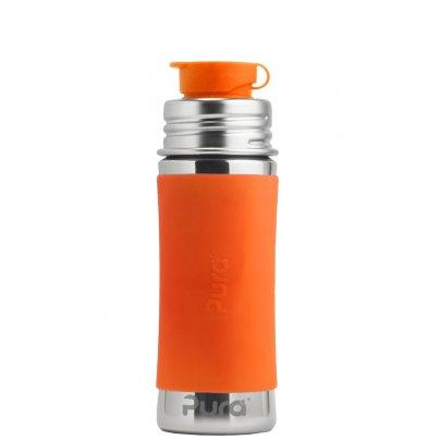 Borraccia in Acciaio da 275ml con Tappo Sport Arancione