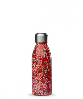Bottiglia in Acciaio Inossidabile - Fiori Rossi
