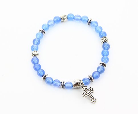 Bracciale Charms - Agata Blu