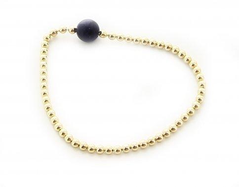 Bracciale Michele Bronzo, Oro e Sugillite Perle Piccole