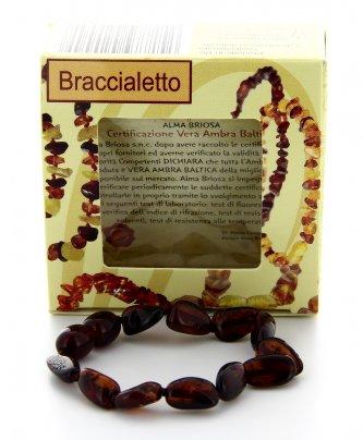 Braccialetto Ambra Baby - Cognac