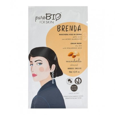 Maschera Viso in Crema Pelle Secca - Brenda Mandorla