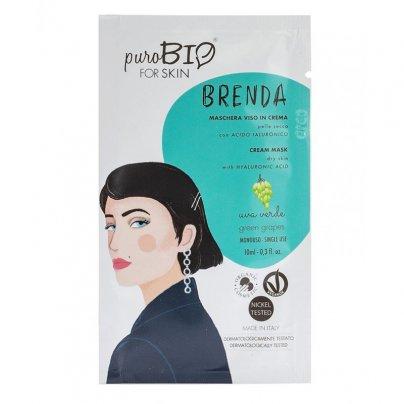 Maschera Viso in Crema Pelle Secca - Brenda Uva Verde