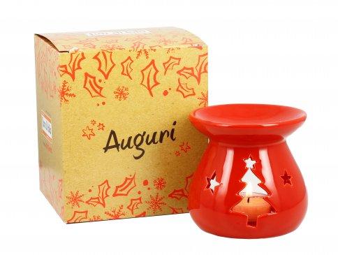 Brucia Essenze Ceramica Albero Rosso