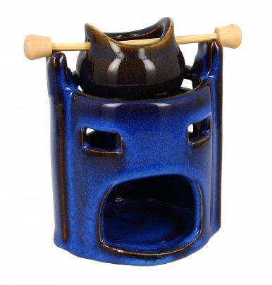 Bruciaessenze con Pentolino Blu