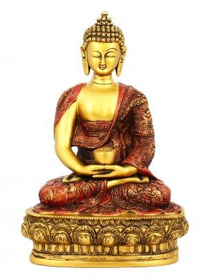 Statuetta Buddha Meditation in Posizione del Loto