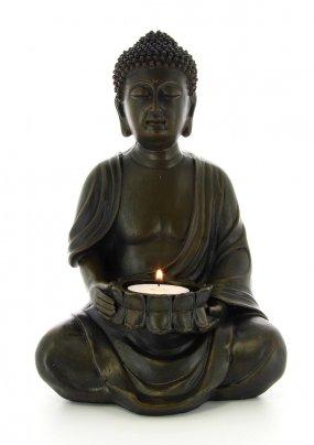 Buddha Scuro con Portalumino