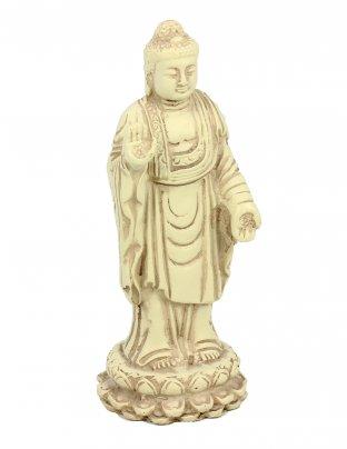 Statuetta Buddha in Piedi (Standing) Bianco