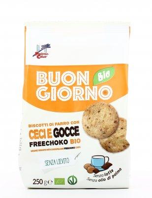 Biscotti di Farro con Ceci e Gocce Freechoko Bio - Buongiorno Bio