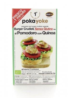 Burger Crudista al Pomodoro e Quinoa Senza Glutine