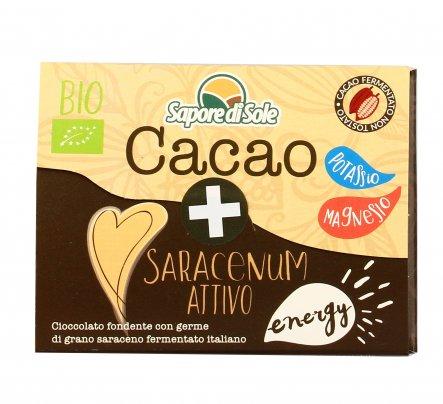 Cacao e Germe di Grano Saraceno Attivo - Cioccolato Fondente Bio