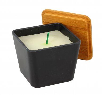 Candela Profumata in Vaso con Semi Caffè Nero