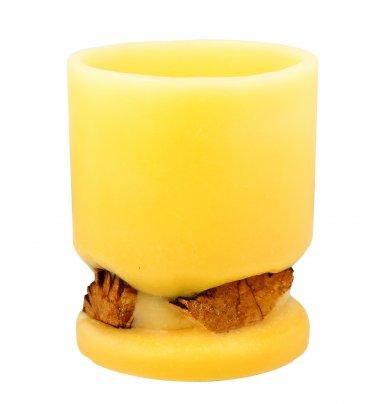 Candela a Lampada con Olio Essenziale di Palo Santo Giallo