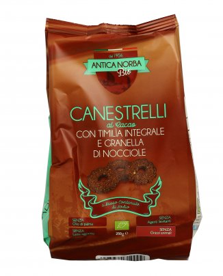 Biscotti Canestrelli Cacao con Timilia Integrale e Granella di Nocciole