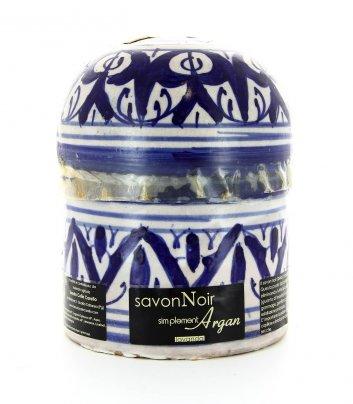 Ceramica Fez con Sapone Nero alla Lavanda - 300 g.