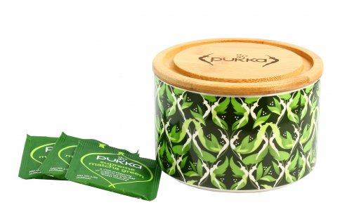 """Confezione in Ceramica """"Supreme Matcha Green"""" con Tisana"""
