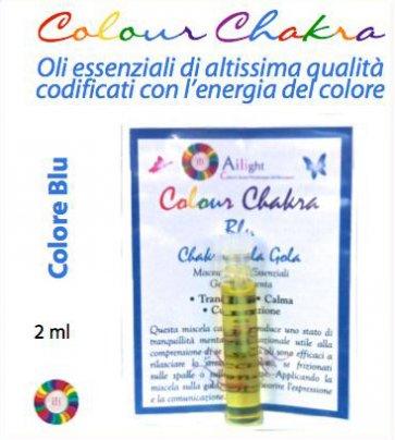 Colour Chakra Oil Blu - Tranquillità, calma, comunicazione 2 ml