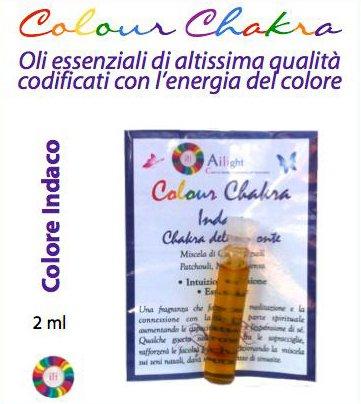 Colour Chakra Oil Indaco - Intuizione, visione, espansione 2 ml