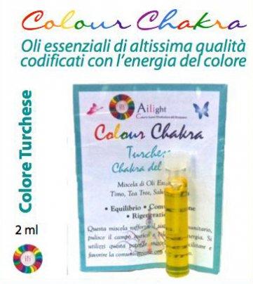 Colour Chakra Oil Turchese - Equilibrio, comunicazione, rigenerazione 2 ml