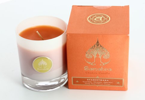 Svadisthana Arancione con Ylang Ylang e Chinotto - Chakra Candle