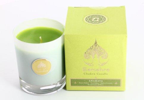 Anahata Verde con Bergamotto e Rosa - Chakra Candle