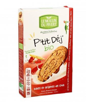 Biscotti ai Cereali con Bacche e Semi di Chia - P'tit Déj'