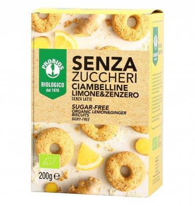 Ciambelline Biscotti Limone e Zenzero Bio - Senza Zuccheri