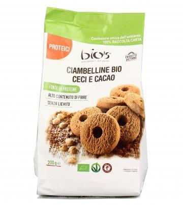 Biscotti Ciambelline Bio Ceci e Cacao Bio