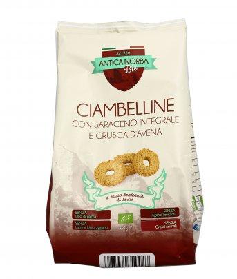 Biscotti Ciambelline con Saraceno Integrale e Crusca d'Avena
