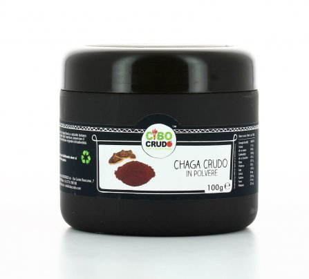 Chaga Mushroom Crudo in Polvere Bio