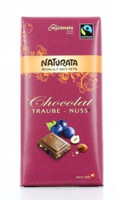 Cioccolato Biologico al Latte con Nocciole e Uvetta Sultanina